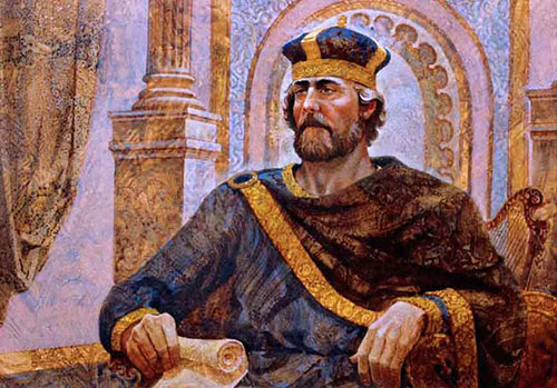 King David Enthroned, by Jerry Harston